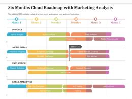 Six Months Cloud Roadmap With Marketing Analysis