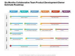 Six Months Collaborative Team Product Development Owner Estimate Roadmap