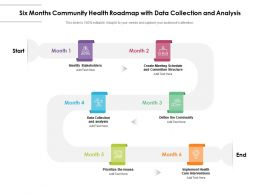 Six Months Community Health Roadmap With Data Collection And Analysis