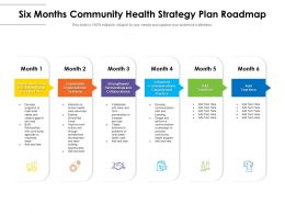 Six Months Community Health Strategy Plan Roadmap