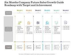Six Months Company Future Sales Growth Guide Roadmap With Target And Achievement
