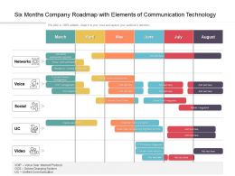 Six Months Company Roadmap With Elements Of Communication Technology