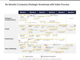 Six Months Company Strategic Roadmap With Sales Process