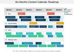 Six Months Content Calendar Roadmap