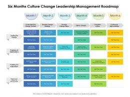Six Months Culture Change Leadership Management Roadmap