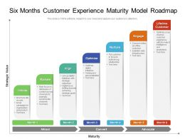 Six Months Customer Experience Maturity Model Roadmap