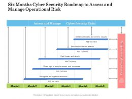 Six Months Cyber Security Roadmap To Assess And Manage Operational Risk
