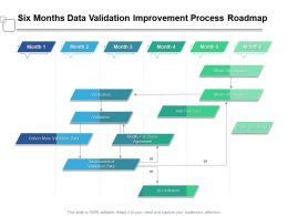 Six Months Data Validation Improvement Process Roadmap