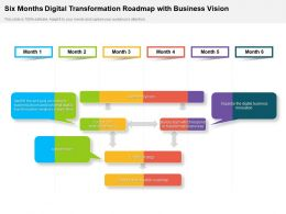 Six Months Digital Transformation Roadmap With Business Vision