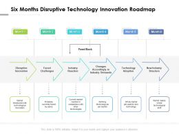 Six Months Disruptive Technology Innovation Roadmap