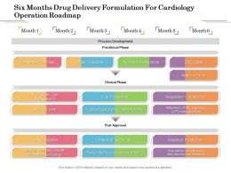 Six Months Drug Delivery Formulation For Cardiology Operation Roadmap