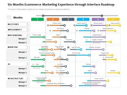 Six Months Ecommerce Marketing Experience Through Interface Roadmap