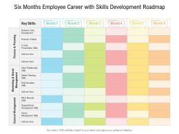 Six Months Employee Career With Skills Development Roadmap