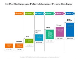 Six Months Employee Future Achievement Guide Roadmap