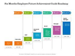 Six Months Employee Future Achievement Guide Roadmap