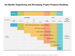 Six Months Engineering And Revamping Project Proposal Roadmap
