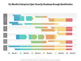Six Months Enterprise Cyber Security Roadmap Through Identification