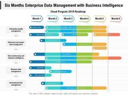 Six Months Enterprise Data Management With Business Intelligence