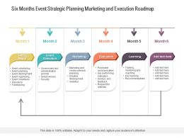 Six Months Event Strategic Planning Marketing And Execution Roadmap