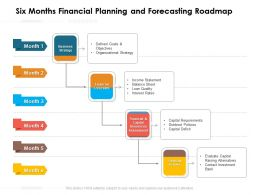 Six Months Financial Planning And Forecasting Roadmap