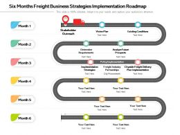 Six Months Freight Business Strategies Implementation Roadmap