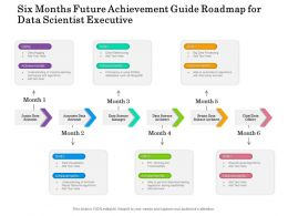 Six Months Future Achievement Guide Roadmap For Data Scientist Executive