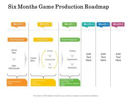 Six Months Game Production Roadmap