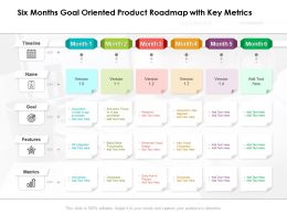 Six Months Goal Oriented Product Roadmap With Key Metrics