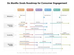Six Months Goals Roadmap For Consumer Engagement