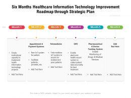 Six Months Healthcare Information Technology Improvement Roadmap Through Strategic Plan