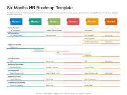Six Months HR Roadmap Timeline Powerpoint Template