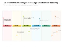 Six Months Industrial Freight Technology Development Roadmap