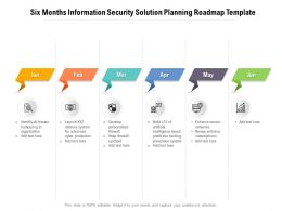 Six Months Information Security Solution Planning Roadmap Template