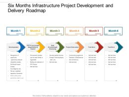 Six Months Infrastructure Project Development And Delivery Roadmap