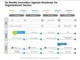 Six Months Innovation Agenda Roadmap For Organizational Session