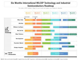 Six Months International WLCSP Technology And Industrial Semiconductors Roadmap