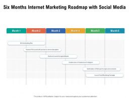 Six Months Internet Marketing Roadmap With Social Media