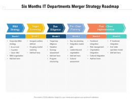 Six Months IT Departments Merger Strategy Roadmap
