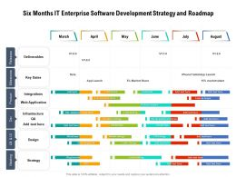 Six Months IT Enterprise Software Development Strategy And Roadmap
