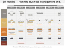 Six Months It Planning Business Management And It Strategy Timeline