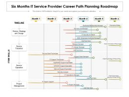 Six Months IT Service Provider Career Path Planning Roadmap