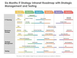 Six Months IT Strategy Intranet Roadmap With Strategic Management And Testing