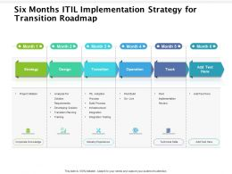 Six Months ITIL Implementation Strategy For Transition Roadmap
