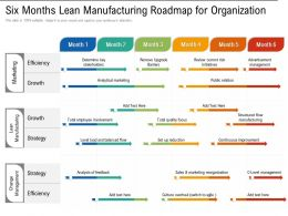 Six Months Lean Manufacturing Roadmap For Organization