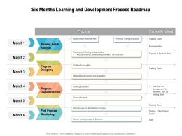 Six Months Learning And Development Process Roadmap