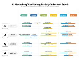 Six Months Long Term Planning Roadmap For Business Growth