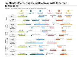 Six Months Marketing Cloud Roadmap With Different Techniques