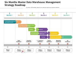 Six Months Master Data Warehouse Management Strategy Roadmap