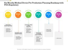 Six Months Medical Device Pre Production Planning Roadmap With FDA Regulatory