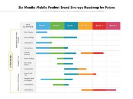 Six Months Mobile Product Brand Strategy Roadmap For Future